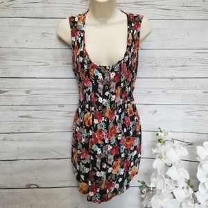 American Rag Floral Button Front Tank Tunic Top